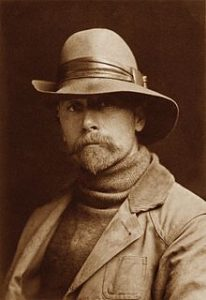 Edward S. Curtis, Self Portrait as a young man