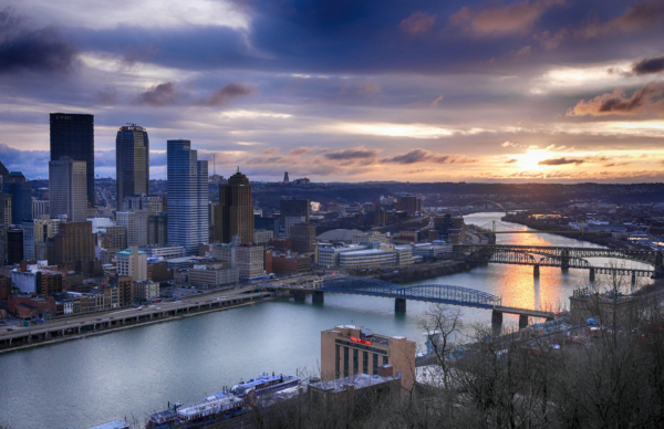 Pittsburgh Sunrise by Paul Richards - Full Size