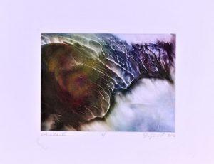 Colored Cascade - on silk