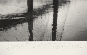 Great River Bridge Photogravure - Detail