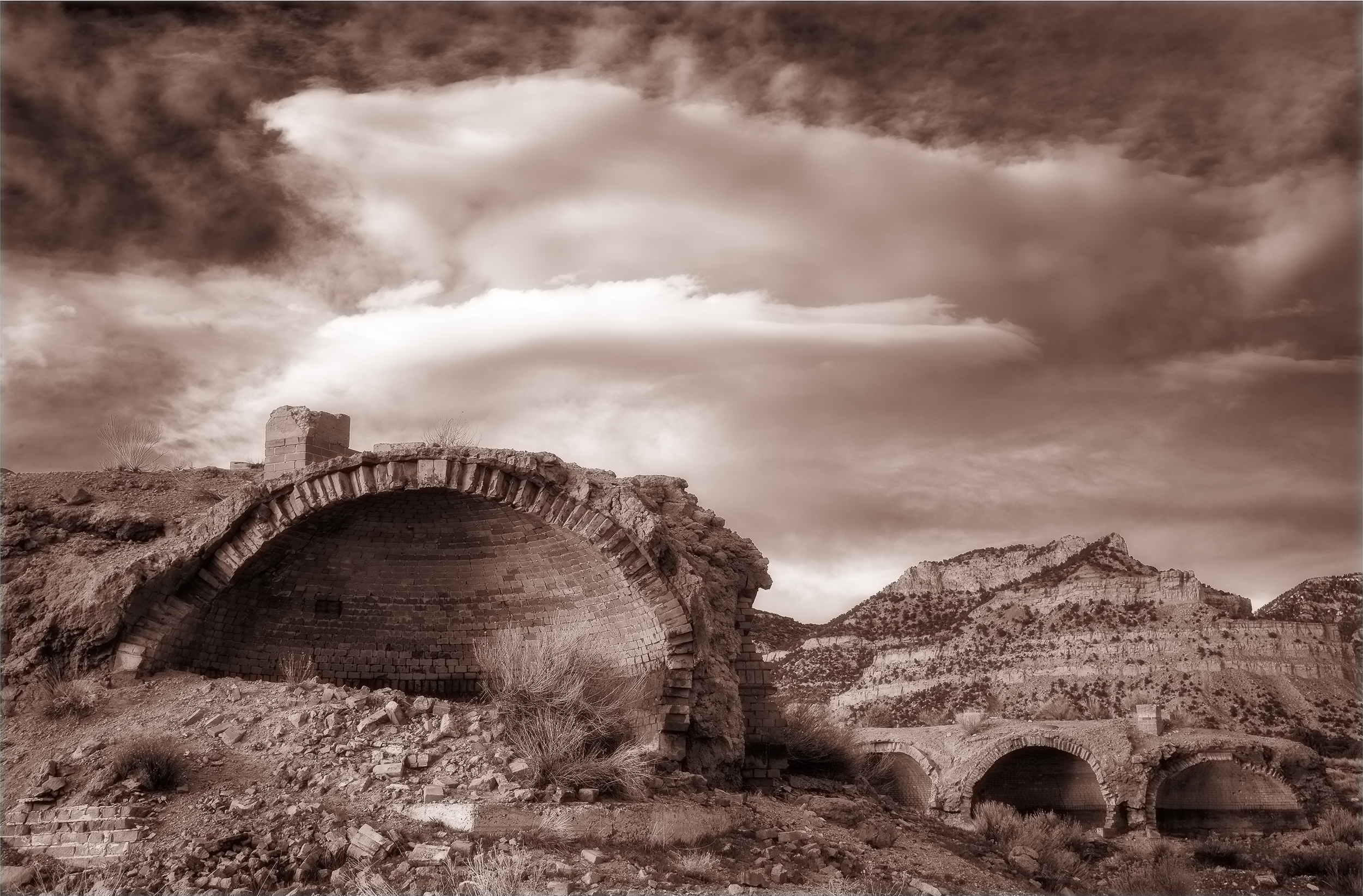 The Coke Ovens - Photogravure by Dave Hanson
