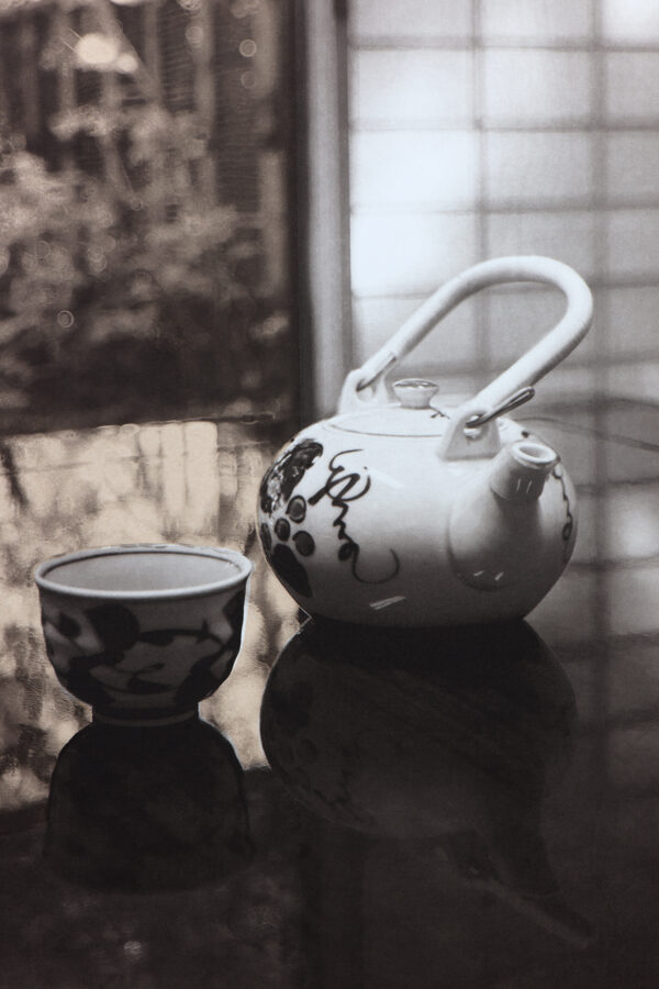 Tea with vi - Photogravure by Bonnie Lybrook