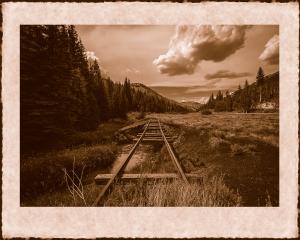 Tracks - mockup of photogravure by Dave Hanson