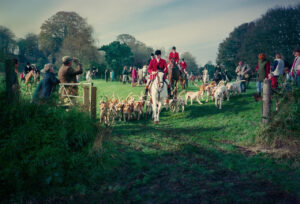 Broad Chalke Fox Hunt 1988 by Paul Richards