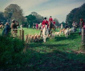 Broad Chalke Fox Hunt 1988 by Paul Richards
